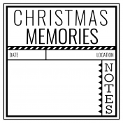 The Good Life- December 2020 Christmas B&W Pocket Cards- JC 01 4x4