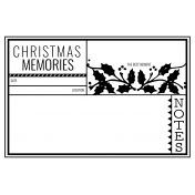 The Good Life- December 2020 Christmas B&W Pocket Cards- JC 01 4x6