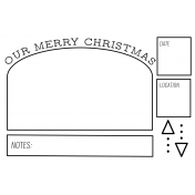 The Good Life- December 2020 Christmas B&W Pocket Cards- JC 02 4x6