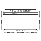 The Good Life- December 2020 Christmas B&W Pocket Cards- JC 03 4x6