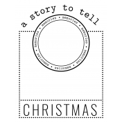 The Good Life- December 2020 Christmas B&W Pocket Cards- JC 06 3x4