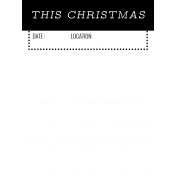 The Good Life- December 2020 Christmas B&W Pocket Cards- JC 07 3x4