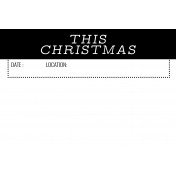 The Good Life- December 2020 Christmas B&W Pocket Cards- JC 07 4x6