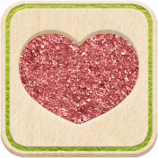 The Good Life: December 2020 Christmas Elements- Square Heart