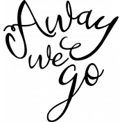 World Traveler-Word art_Away we go template