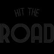 World Traveler-Wordart- Hit the road template