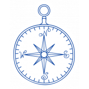 World Traveler #2 Tags & Stickers Kit- Print Vintage Compass
