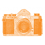 World Traveler #2 Tags & Stickers Kit- Print Vintage Camera