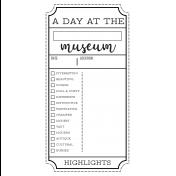 World Traveler #2 Black & White Journal Me Kit- Card 03
