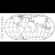 World Traveler #2 Black & White Journal Me Kit - Card 06