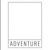 World Traveler #2 Black & White Pocket Cards Kit- Card 07 3x4