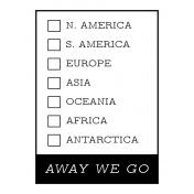 World Traveler #2 Black & White Pocket Cards Kit- Card 08 3x4