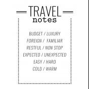 World Traveler #2 Black & White Pocket Cards Kit- Card 11 3x4