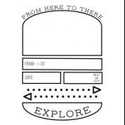 World Traveler #2 Black & White Pocket Cards Kit- Card 12 3x4