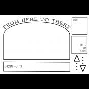 World Traveler #2 Black & White Pocket Cards Kit- Card 02 4x6