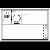 World Traveler #2 Black & White Pocket Cards Kit- Card 03 4x6