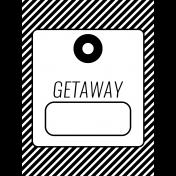 World Traveler #2 Black & White Pocket Cards Kit- Card 03 3x4