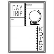 World Traveler #2 Black & White Pocket Cards Kit- Card 04 3x4