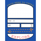 World Traveler #2 Pocket Cards Color Kit- Card 12 3x4
