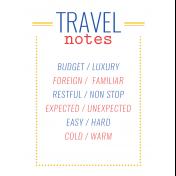 World Traveler #2 Pocket Cards Color Kit- Card 11 3x4