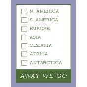 World Traveler #2 Pocket Cards Color Kit- Card 08 3x4