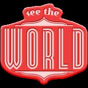 World Traveler Bundle #2- Elements- Label Rubber See The World