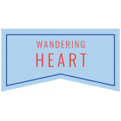 World Traveler Bundle #2- Labels- Label Wandering Heart
