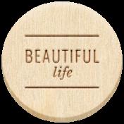 The Good Life: February 2021 Elements Kit- Word- Beautiful Life