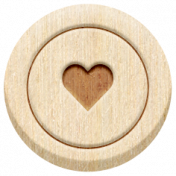 The Good Life: February 2021 Elements Kit- Word- Heart 2