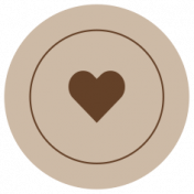 The Good Life: February 2021 Labels Kit- label heart 2