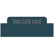 The Good Life: February 2021 Labels Kit- label this cute face