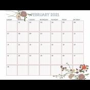 The Good Life: February 2021 Planner & Calendar Kit- calendar