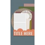 Traveler's Notebook Layout Templates Kit #20- Layout Template 20D