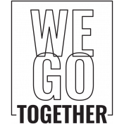 The Good Life: March 2021 Stamps Kit- we go together template