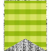 Summer Lovin_Banner flag-gingham green Print