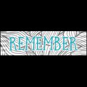 Good Life April 21_Word Tag-Remember