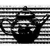 The Good Life: April Collage Kit- Stamp Tea Pot