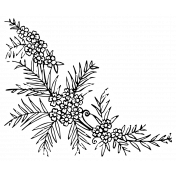 The Good Life: April Collage Kit- Sticker Flower 2
