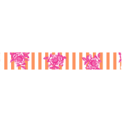 Summer Lovin_Washi tape-stripe flowers-orange pink