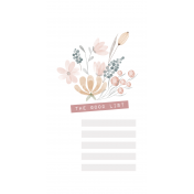 Good Life July 21_Journal Me-Watercolor Flowers With List TN