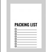 Pocket Card Template Kit #9_Pocket Card-List-Packing List 3x4