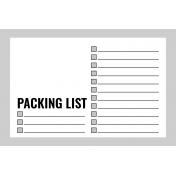 Pocket Card Template Kit #9_Pocket Card-List-Packing List 4x6