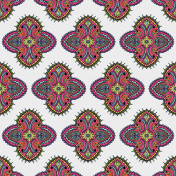 Good Life Aug 21_Paper Floral Design-Pink Purple Green Yellow-Dark