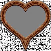Templates Grab Bag Kit #42- cork geo tag heart