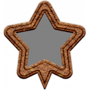 Templates Grab Bag Kit #42- cork geo tag star