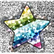 Good Life Aug 21_Star Shiny Sticker-Rainbow