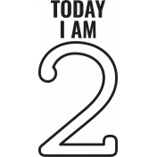 Make A Wish Stamps- Today I Am Kit- 2 Template