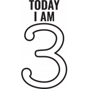 Make A Wish Stamps- Today I Am Kit- 3 Template