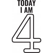 Make A Wish Stamps- Today I Am Kit- 4 Template