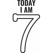 Make A Wish Stamps- Today I Am Kit- 7 Template